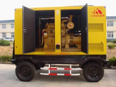 金华应急发电机-300kw移动静音发电机组